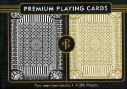 Black & Gold Premium Plastic Playing Cards: Two Standard Decks (Cards)