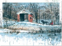 Covered Bridge in Winter: Boxed Holiday Cards (Cards)