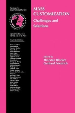 Mass Customization: Challenges and Solutions (Paperback)
