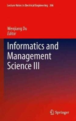 Informatics and Management Science III (Hardcover)