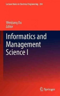 Informatics and Management Science I (Hardcover)