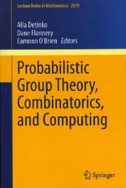 Probabilistic Group Theory, Combinatorics, and Computing: Lectures from the Fifth de Brun Workshop (Paperback)