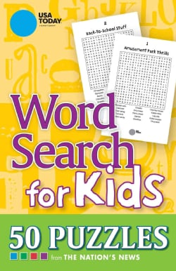 USA Today Word Search for Kids: 50 Puzzles from The Nation's News (Paperback)