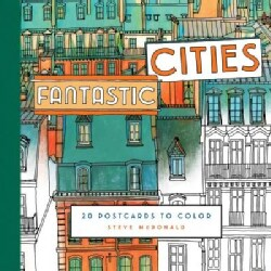 Fantastic Cities: 20 Postcards to Color (Postcard book or pack)