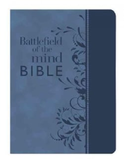 Battlefield of the Mind Bible: Amplified Version, Blue, Euroluxe, Fashion Edition, Renew Your Mind Through the Po... (Paperback)