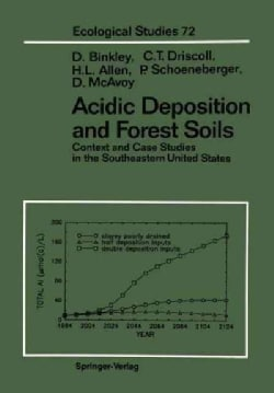 Acidic Deposition and Forest Soils: Context and Case Studies of the Southeastern United States (Paperback)