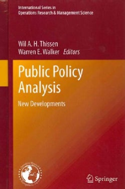 Public Policy Analysis: New Developments (Hardcover)