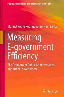 Measuring E-government Efficiency: The Opinions of Public Administrators and Other Stakeholders (Hardcover)