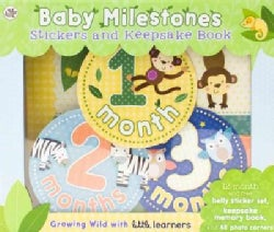 Baby Milestones Stickers and Keepsake Book: Growing Wild With Little Learners (Paperback)