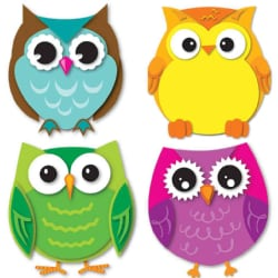 Colorful Owls Cut-outs (Other book format)