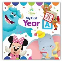 """Disney Baby My First Year: Record and Share Baby's """"Firsts"""" (Hardcover)"""