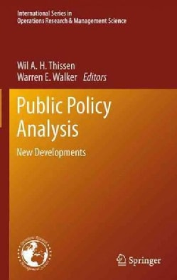 Public Policy Analysis: New Developments (Paperback)