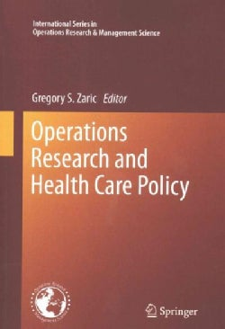 Operations Research and Health Care Policy (Paperback)