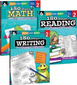 180 Days of Reading, Writing and Math for Second Grade Set (Paperback)