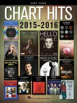 Chart Hits of 2015-2016: Easy Piano (Paperback)