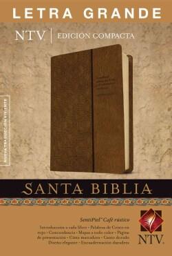 Santa Biblia / Holy Bible: Nueva Traduccion Viviente cafe rustico sentipiel (Paperback)
