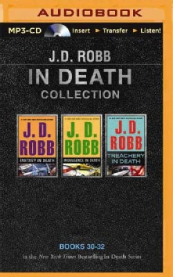 J. D. Robb in Death Collection: Fantasy in Death / Indulgence in Death / Treachery in Death (CD-Audio)