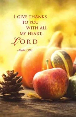 I Give Thanks Thanksgiving Bulletin Pkg of 50 (Other book format)