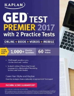 Kaplan GED Test Premier 2017 With 2 Practice Tests, Online Acess (Paperback)