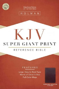 Holy Bible: King James Version, Reference Bible, Brown Imitation super giant print (Paperback)
