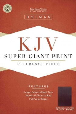 King James Version Super Giant Print Reference Bible: Indexed, Die-Cut (Paperback)