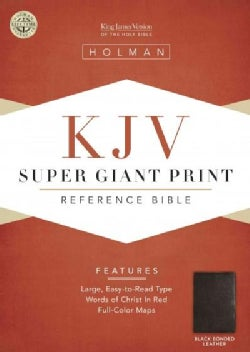 The Holy Bible: King James Version, Reference, Black Bonded Leather (Paperback)