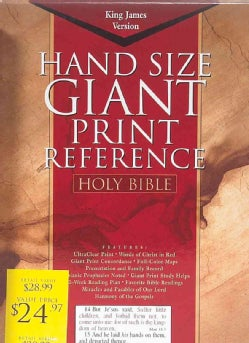 Holy Bible, Giant Print Reference: King James Version, Blue, Imitation Leather (Paperback)