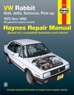 Vw Rabbit, Jetta, Scirocco and Pickup, 1975-1992: All Volkswagen Rabbit, Golf, Jetta, Scirocco and Pick-Up Models... (Paperback)