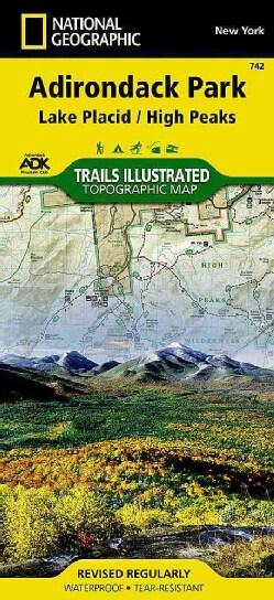 National Geographic Trails Illustrated Topographic Map Adirondack Park: Lake Placid/ High Peaks: New York (Sheet map, folded)