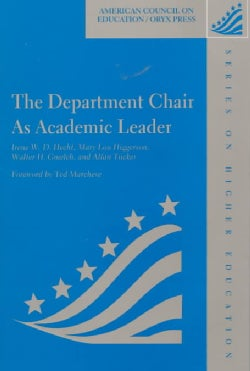The Department Chair As Academic Leader (Hardcover)