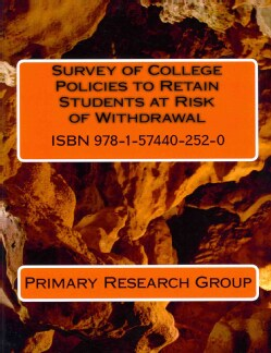 Survey of College Policies to Retain Students at Risk of Withdrawal (Paperback)