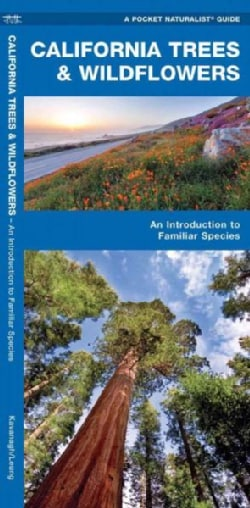 California Trees & Wildflowers: A Folding Pocket Guide to Familiar Plants (Paperback)