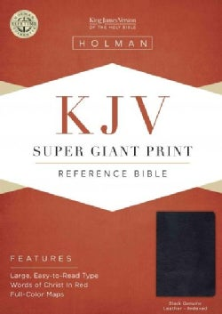 Holy Bible: King James Version, Black Genuine Leather, Super Giant Print Reference (Paperback)