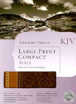 The Holy Bible: King James Version, Imitation Leather, Ancient Faith Edition, Brown & Tan Simulated Leather (Paperback)