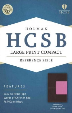 Holy Bible: Holman Christian Standard Bible, Brown/Pink, Leathertouch With Magnetic Flap, Reference (Paperback)