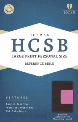 Holy Bible: Holman Christian Standard Bible, Pink/Brown, Leathertouch, Personal Size Bible With Magnetic Flap (Paperback)
