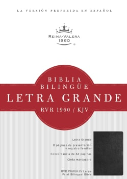 Biblia Bilingue Letra Grande: Reina-Valera 1960 / King James Version, Negro / Black (Hardcover)