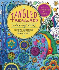 Tangled Treasures Coloring Book: 52 Intricate Tangle Drawings to Color with Pens, Markers, or Pencils (Paperback)