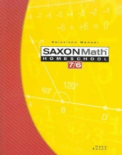Saxon Math Homeschool 7/6 (Paperback)