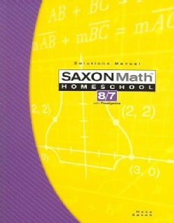SAXON MATH HOMESCHOOL 8 7: WITH PREALGEBRA (Paperback)