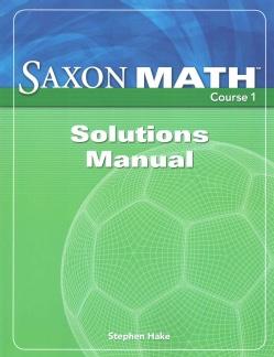 Saxon Math Course 1 Grade 6 (Paperback)