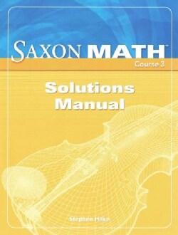 Saxon Math Course 3 (Paperback)