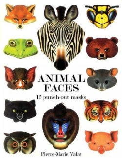 Animal Faces: 15 Punch-out Masks (Paperback)
