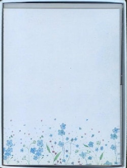 Blue Flowers Letter-perfect Stationary (Cards)