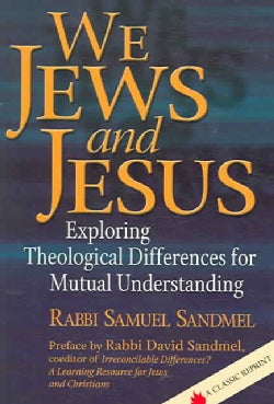 We Jews and Jesus: Exploring Theological Differences for Mutual Understanding (Paperback)