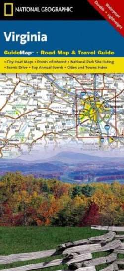 Virginia: Guidemap, Road Map & Travel Guide (Sheet map)