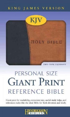 Holy Bible: King James Version, Black on Tan Flexisoft, Personal Size, Giant Print Reference (Paperback)