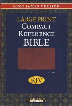 Holy Bible: King James Version, Espresso, Flexisoft, Large Print, Compact Reference (Paperback)