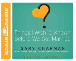 Things I Wish I'd Known Before We Got Married (CD-Audio)