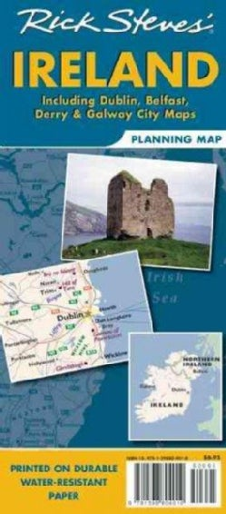Rick Steves' Ireland Planning Map: Including Dublin, Belfast, Derry & Galway City Maps (Sheet map, folded)